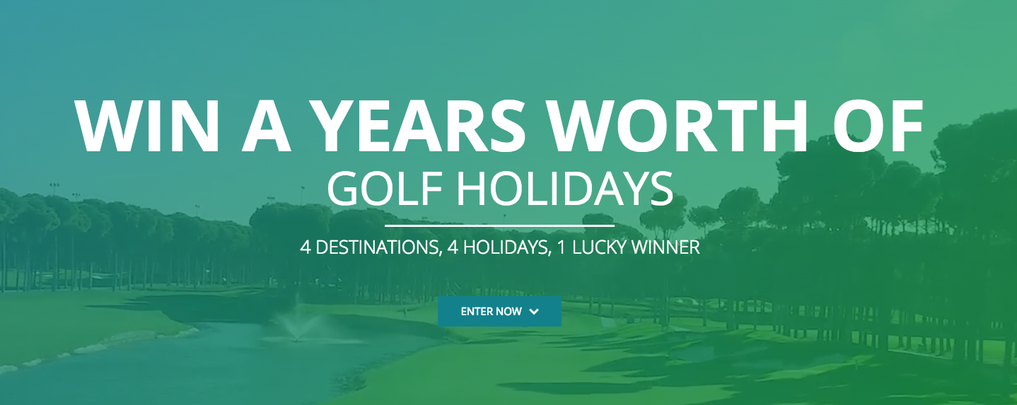 Win A Years Worth Of Golf Holidays